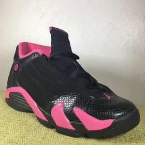 Rare Nike Air Jordan XIV 14 Retro Black/Pink